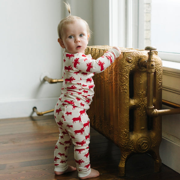 Parade Organics Pyjamas Natural Moose Organic Kids Pajamas