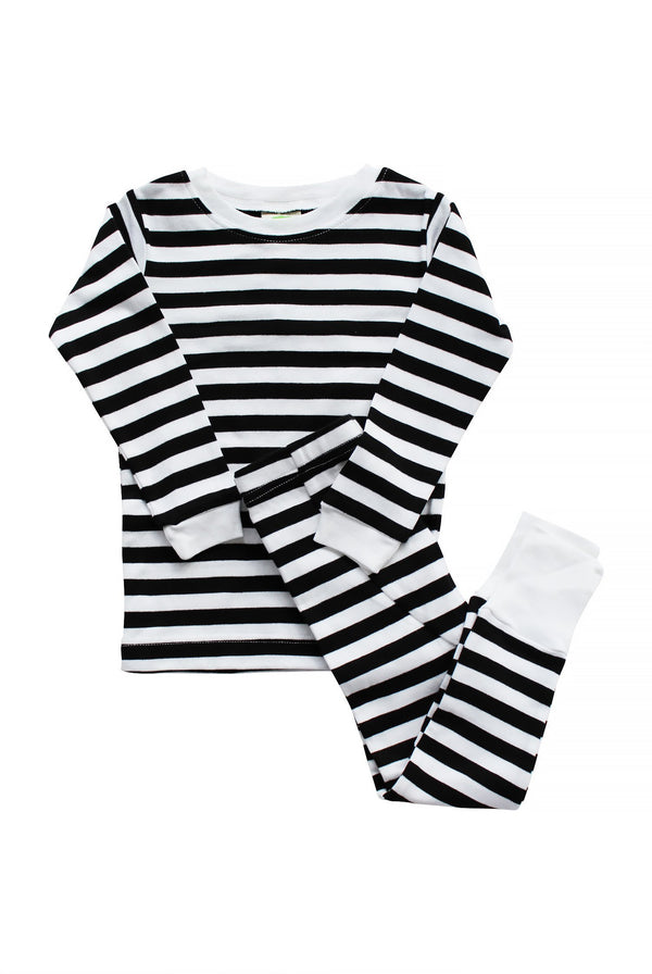 Parade Organics Pyjamas Organic Kids Pajamas - Black Stripes