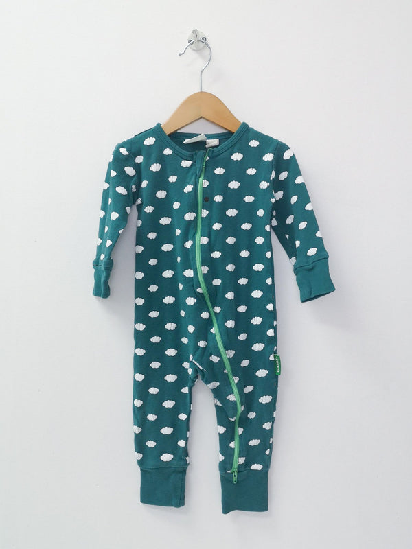 Parade Organics Romper 12-18m / Preloved Re-Cycle 2-Way Zip Cloud Romper