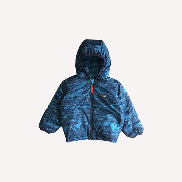 Patagonia Mid Season Jacket 2T / Like New Re-Cycle Reversible Blue Mid Season Jacket