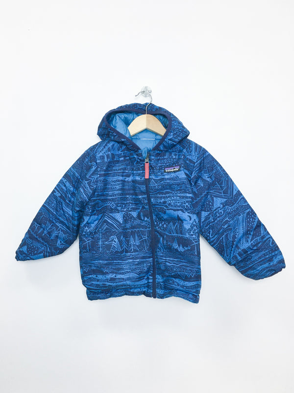 Patagonia Outerwear 3-4y / Like New Re-Cycle Reversible Down Sweater Hoodie