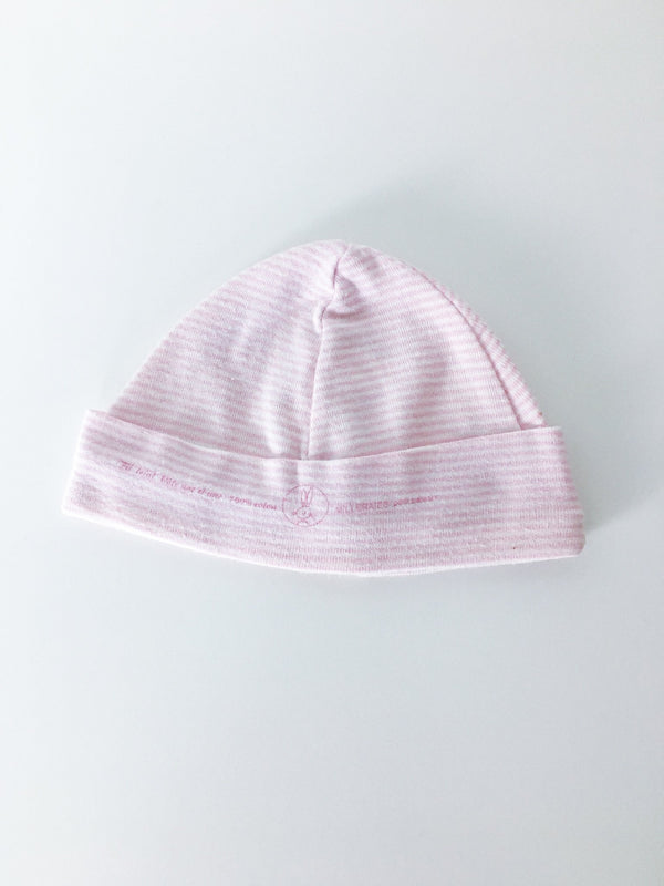 Petit Bateau Accessories 3-6m / Gently Used Re-Cycle Pink Striped Baby Hat
