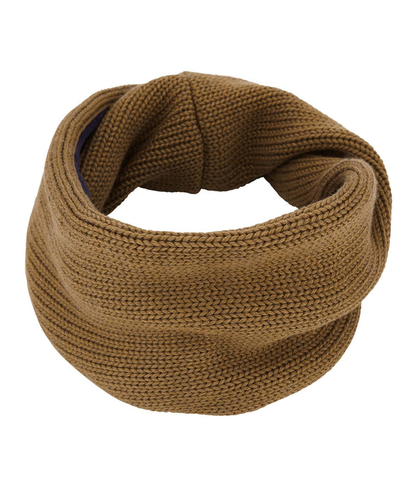 Petit Bateau Accessories Smoking Blue / One-Size Child Lined Knit Snood Brindille Brown