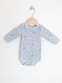 Petit Bateau Bodysuit 3m / Like New Re-Cycle Grey Baby Bodysuit with Sparkly Print