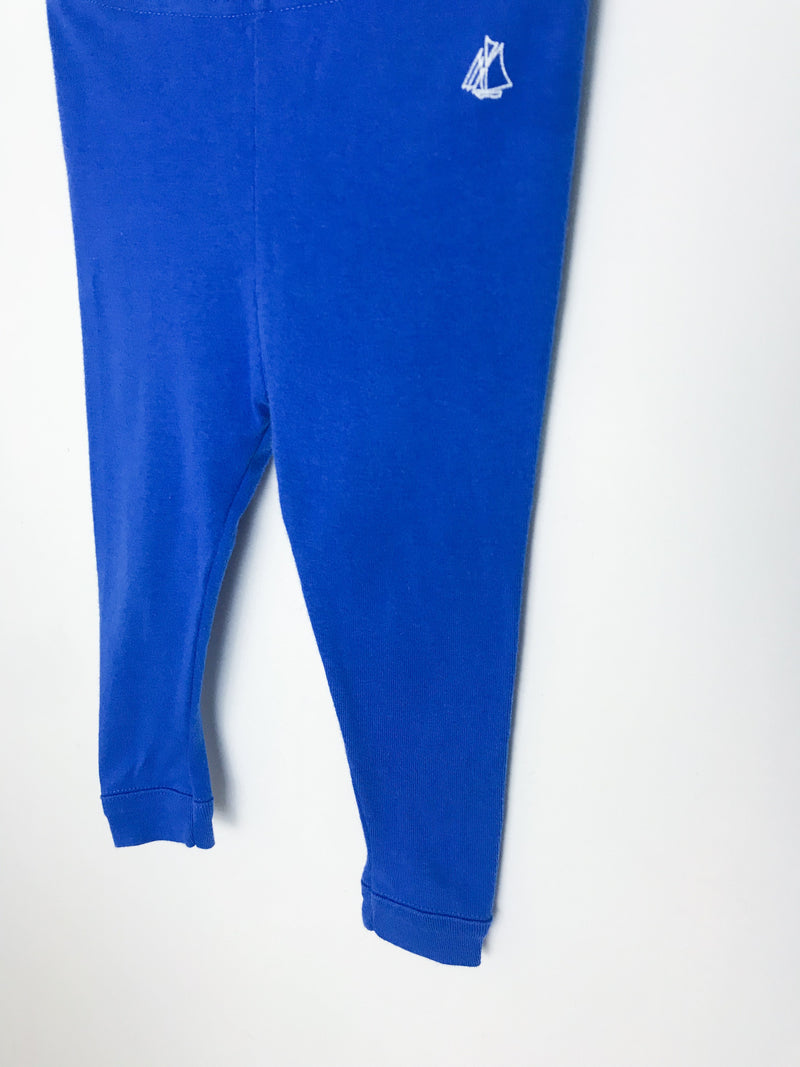 Petit Bateau Bottoms 12m / Gently Used Re-Cycle Blue Baby Leggings