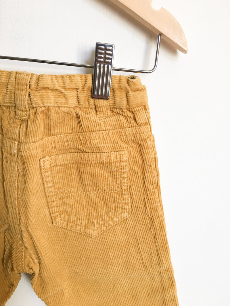 Petit Bateau Bottoms 18m / Gently Used Re-Cycle Mustard Corduroy Pants