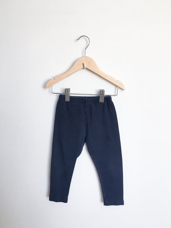 Petit Bateau Bottoms 24m / Gently Used Re-Cycle Navy Blue Leggings