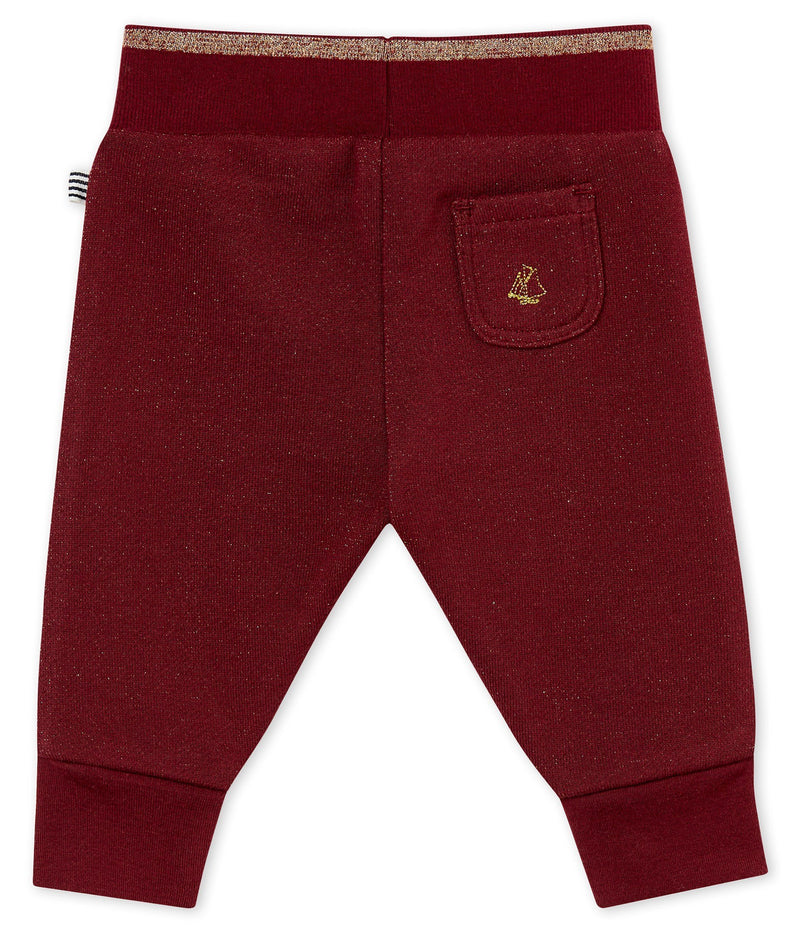 Petit Bateau Bottoms 3m Baby's Shiny Cotton Sweatshirt Trousers