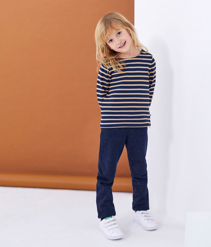 Petit Bateau Bottoms 4y Shinny Sweatshirt Cotton Trousers