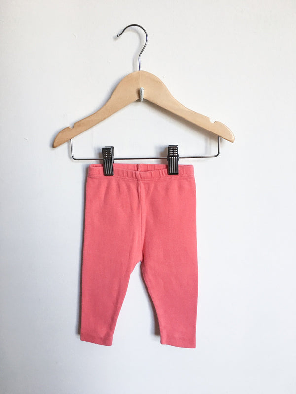 Petit Bateau Bottoms 6m / Gently Used Re-Cycle Coral Leggings