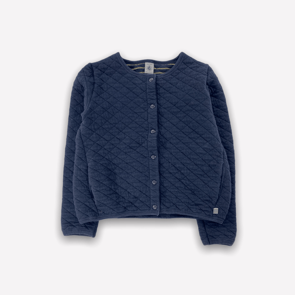 Petit Bateau Cardigan 10y / Preloved Re-Cycle Blue Quilted Cardigan