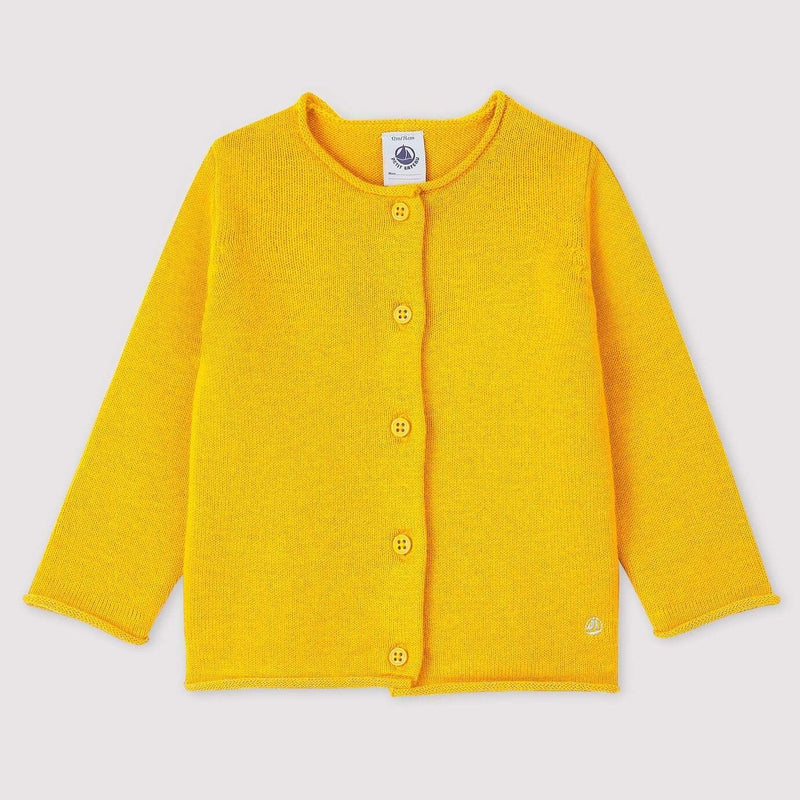 Petit Bateau Cardigan Baby Long-Sleeved Cardigan - Goldilocks Yellow