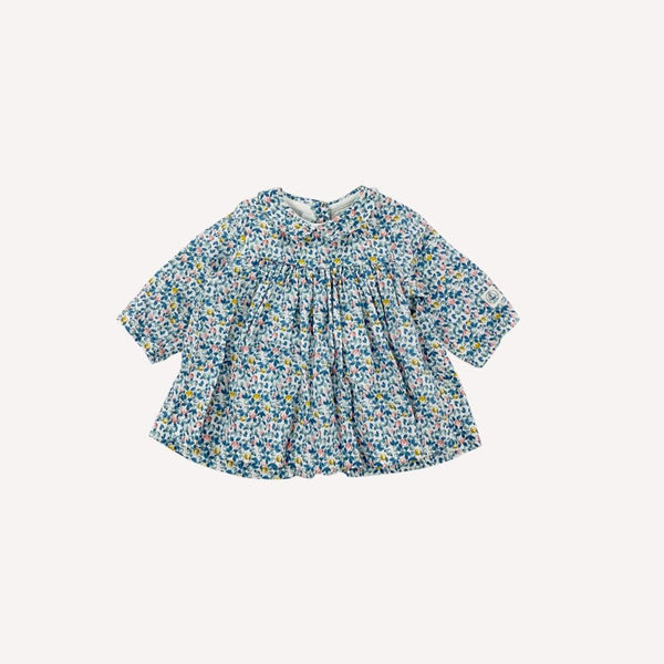 Petit Bateau Dress 3m / Like New Re-Cycle Patterned Blue Dress