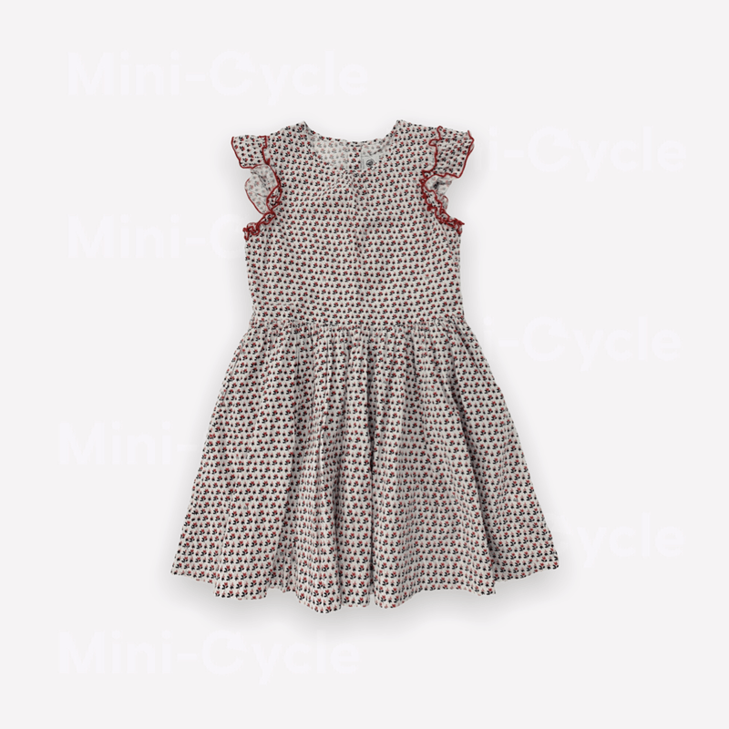 Petit Bateau Dress 8y / Like New Re-Cycle Patterned Red Dress