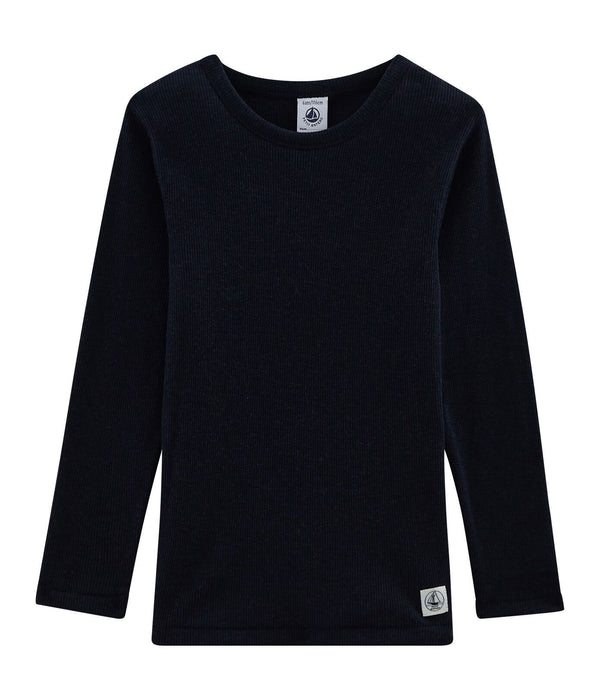 Children's Long-Sleeved T-shirt in Cotton/Wool/Silk