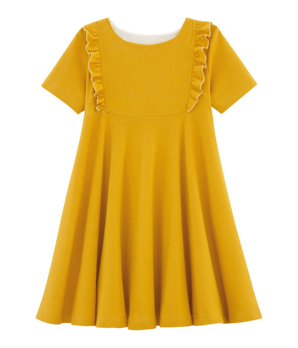 Petit Bateau Dress Girls' Short-Sleeved Dress