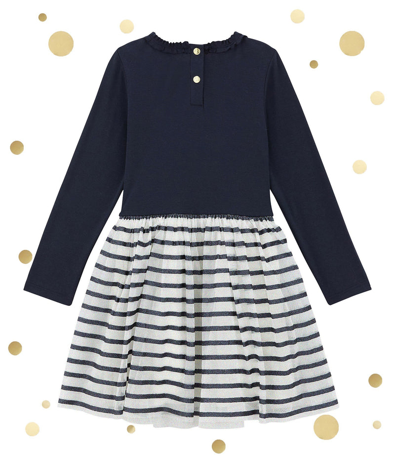 Petit Bateau Dresses + Skirts 4y Shiny Dual Fabric Dress