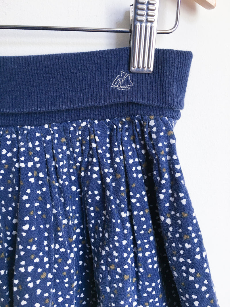 Petit Bateau Dresses + Skirts 5y / Gently Used Re-Cycle Blue Heart Skirt