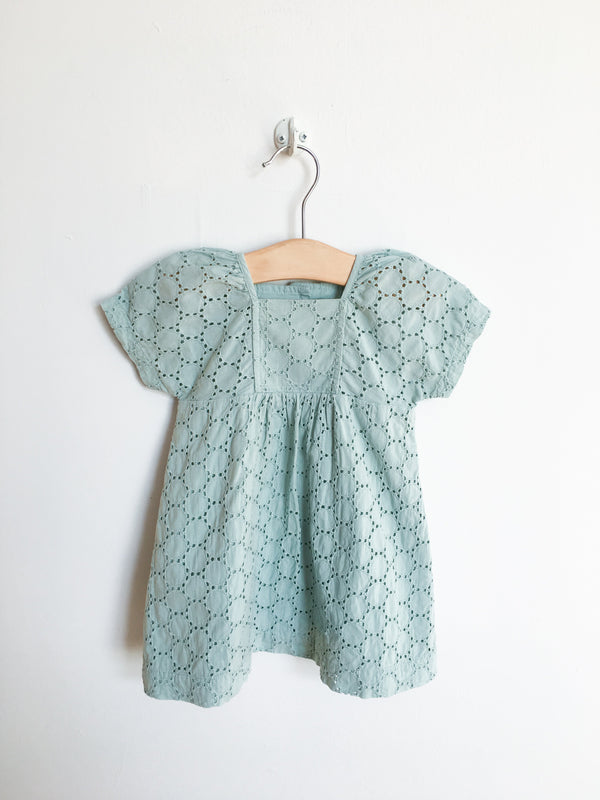 Petit Bateau Dresses + Skirts 6m / Gently Used Re-Cycle Teal Eyelet Dress