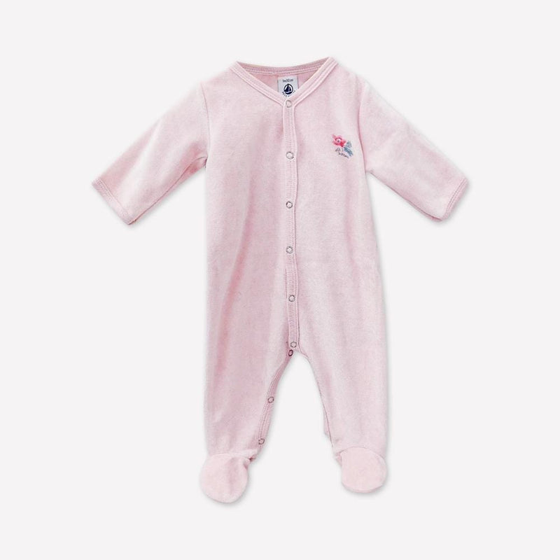 Petit Bateau Footed 1m / Like New Re-Cycle Pink Footed Pyjama 2 Piece Set