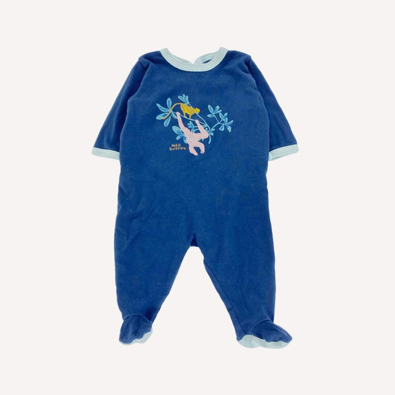 Petit Bateau Footed 3m / Preloved Re-Cycle Graphic Blue Footed Pyjama