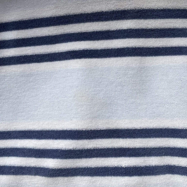 Petit Bateau Footed 6m / Preloved Re-Cycle Striped Blue Footed Pyjamas