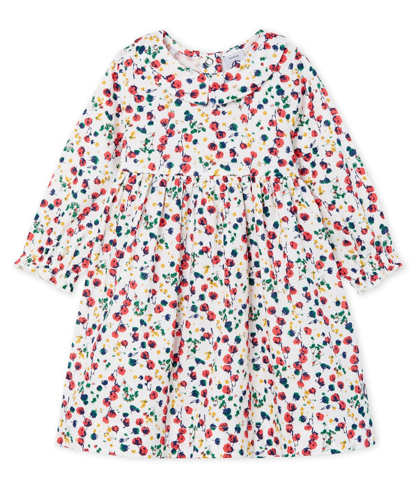 Petit Bateau Leggings Baby Girls' Long-Sleeved Print Dress
