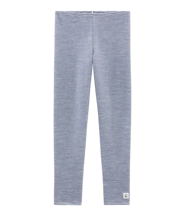 Petit Bateau Leggings Leggings in Wool and Cotton - Blue