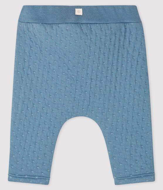 Petit Bateau Leggings Quilted Tube Knit Baby Leggings - Tempete