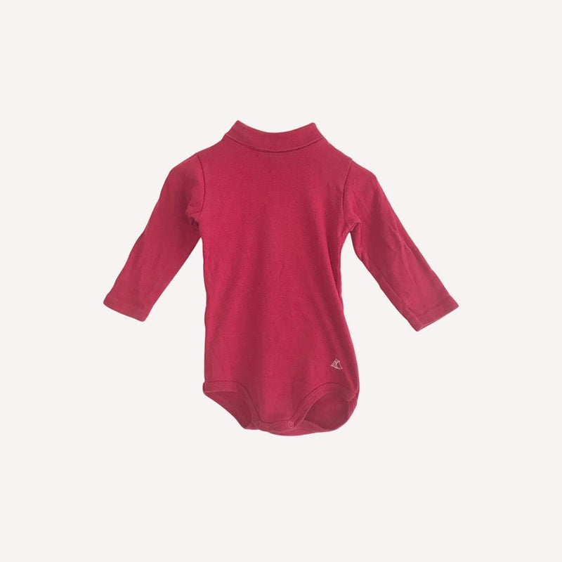 Petit Bateau Onesie 12m / Preloved Re-Cycle Red Solid Onesie