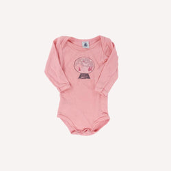 Petit Bateau Onesie 6m / Preloved Re-Cycle Graphic Pink Onesie