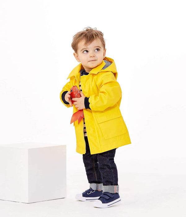 Petit Bateau Outerwear 12m / Yellow Yellow Waxed Raincoat