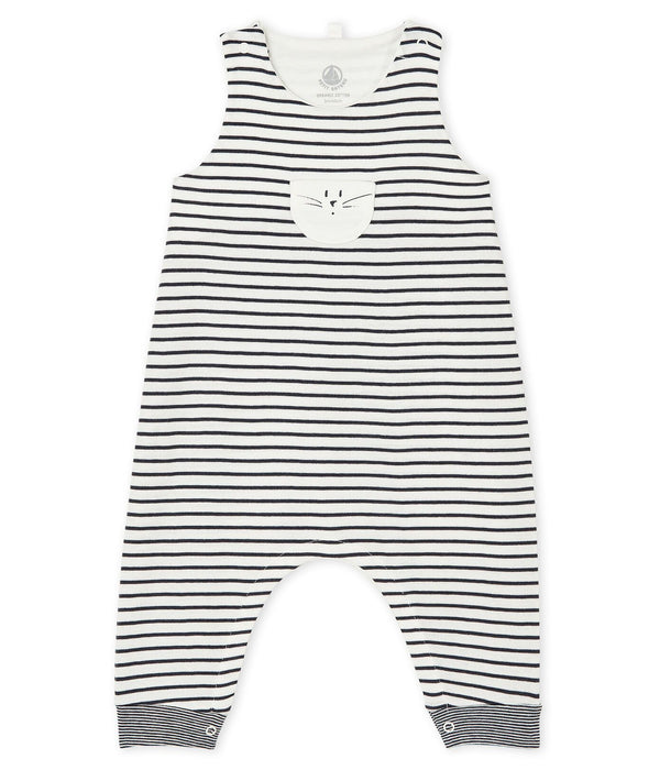 Petit Bateau Overalls Baby Long Striped Overalls