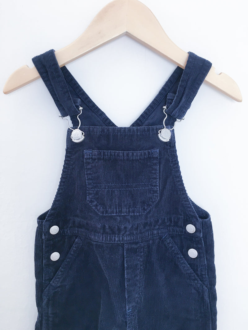Petit Bateau Rompers + Overalls 12m / Gently Used Re-Cycle Navy Corduroy Overalls