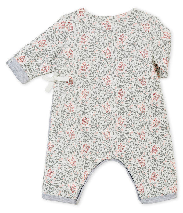 Petit Bateau Rompers + Overalls 1m Flower Pattern Padded All-In-One
