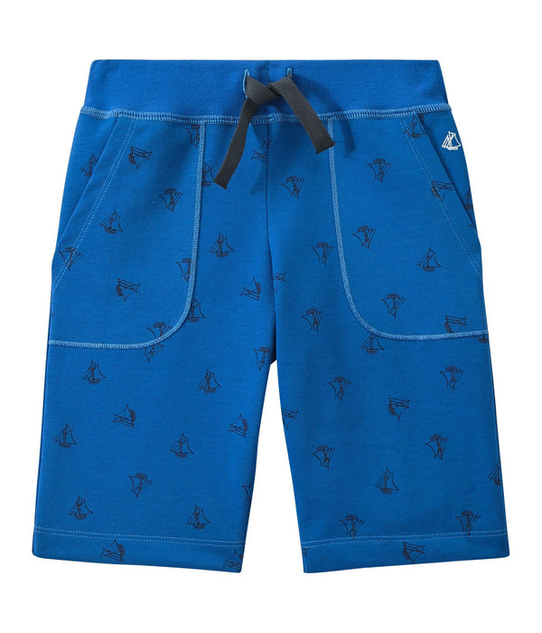 Petit Bateau Shorts 3y Bermudas in Heavyweight Print Jersey