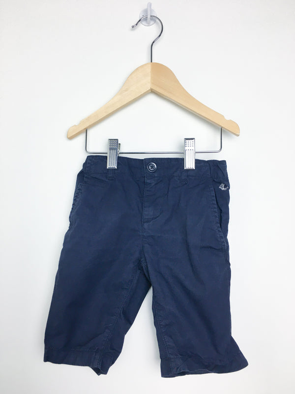 Petit Bateau Shorts 4y / Gently Used Re-Cycle Navy Blue Chino Shorts