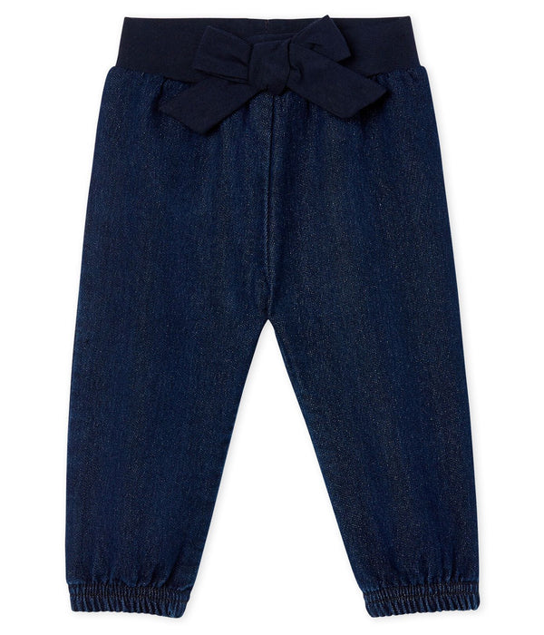 Petit Bateau Skirt Baby Girls' Denim Look Trousers