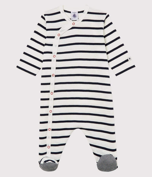 Petit Bateau Sleepsuit Striped Ribbed Sleepsuit