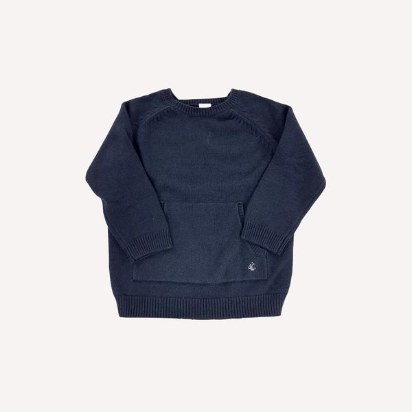 Petit Bateau Sweater 3y / New Re-Cycle Solid Blue Sweater