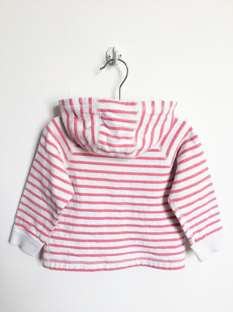 Petit Bateau Sweaters 12-18m / Gently Used Re-Cycle Pink and White Striped Hoodie