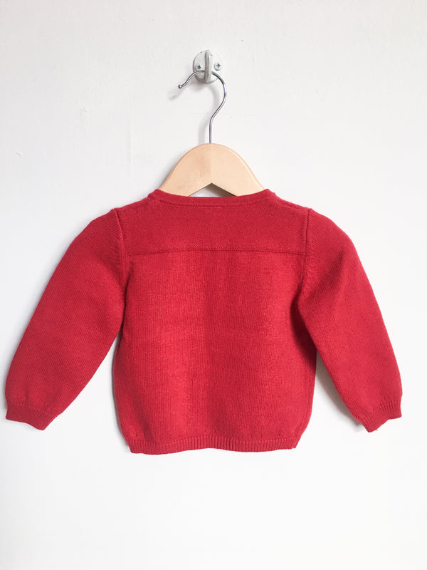 Petit Bateau Sweaters 12m / Like New Re-Cycle Red Knit Cardigan