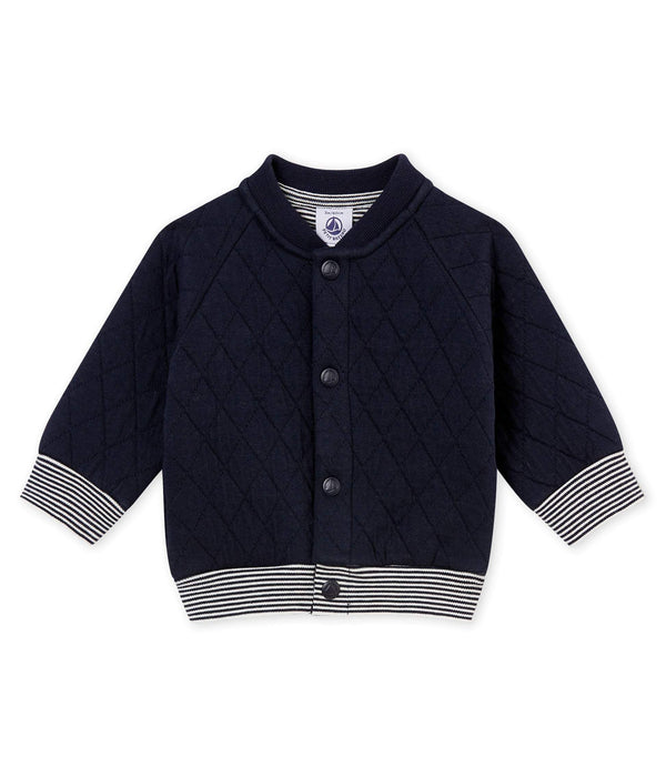 Petit Bateau Sweaters 3m Baby Padded Cotton Tubic Cardigan