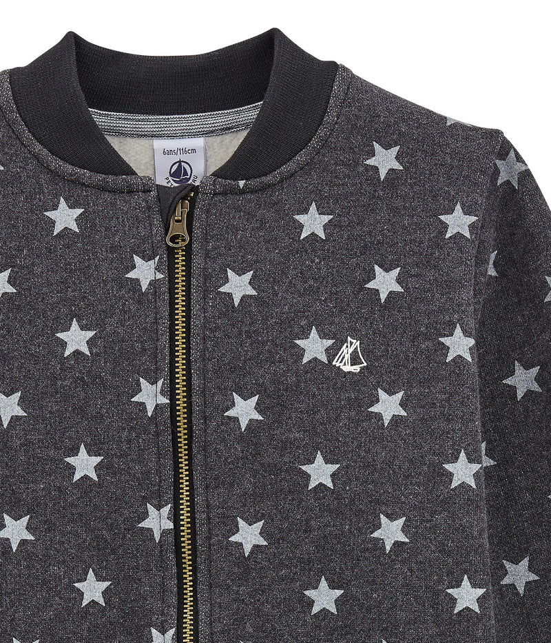 Petit Bateau Sweaters 4y Star Print Cotton Sweatshirt Cardigan
