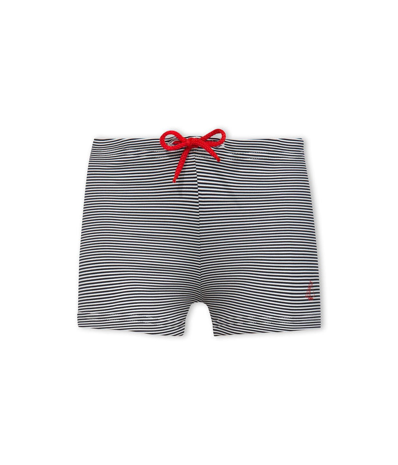 Petit Bateau Swimwear Swim Trunks - Blue and White Stripe