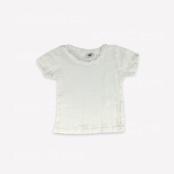 Petit Bateau T-Shirt 12m / Preloved Re-Cycle Lightweight Pointelle T-Shirt
