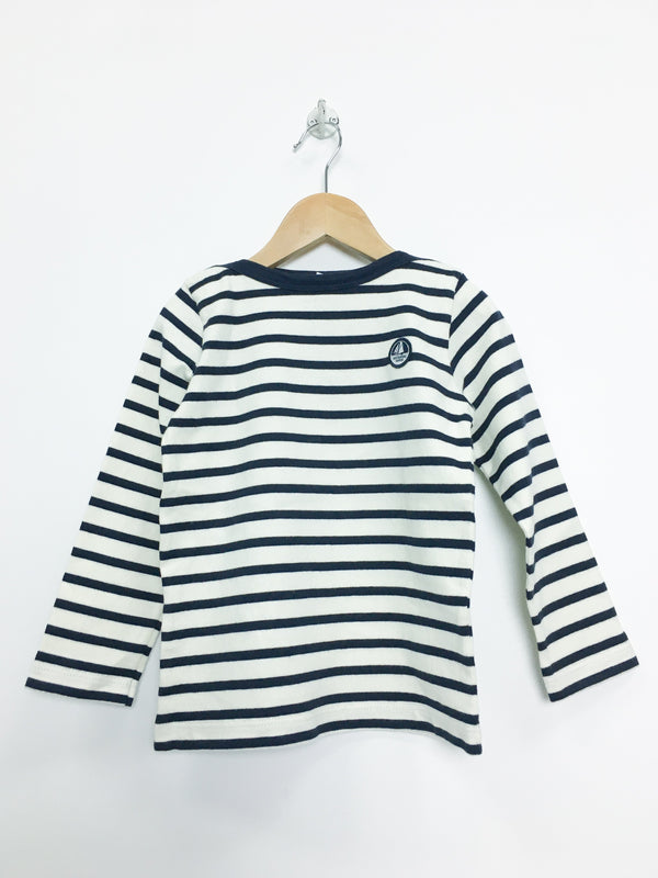 Petit Bateau Tops 4y / Like New Re-Cycle Striped Sailor Top