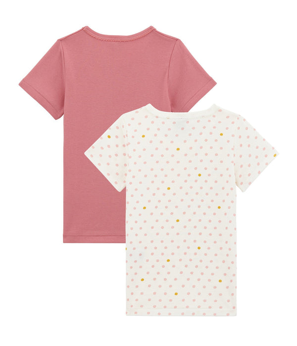 Petit Bateau Tops + Bodysuits 2y Pink Short Sleeved Tee-Shirt Duo