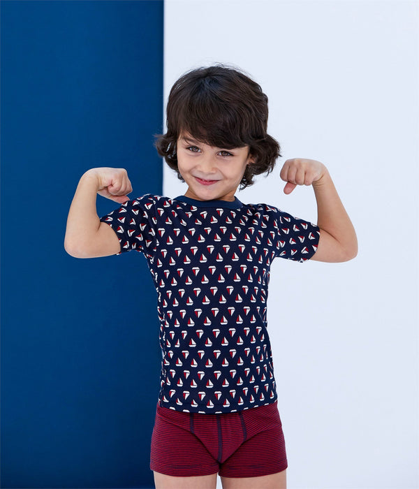 Petit Bateau Tops + Bodysuits 2y Short Sleeved Tee-Shirt Trio