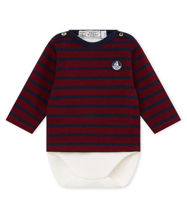 Petit Bateau Tops + Bodysuits 3m Baby Iconic Sailor Body